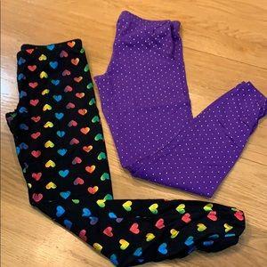 2-pairs of Cute Circo leggings Size L 10/12